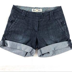 One 5 One Cuffed Denim Shorts 4